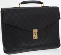 Luxury Accessories:Bags, Chanel Black Lambskin Leather Diamond Stitch Briefcase with GoldHardware. ...