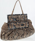 Luxury Accessories:Bags, Fendi Python and Tortoiseshell Natural To You Tote Bag. ...