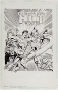 Original Comic Art:Covers, Paris Cullins and Romeo Tanghal In Hot Pursuit (DC Heroes RolePlaying Game) Cover Original Art (Mayfair Games, In...