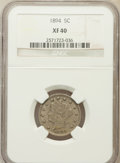 Liberty Nickels: , 1894 5C XF40 NGC. NGC Census: (2/276). PCGS Population (13/426).Mintage: 5,413,132. Numismedia Wsl. Price for problem free...