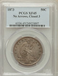 Seated Half Dollars: , 1873 50C Closed 3, No Arrows XF45 PCGS. PCGS Population (17/59).NGC Census: (9/43). Mintage: 587,000. Numismedia Wsl. Pric...