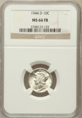 Mercury Dimes: , 1944-D 10C MS66 Full Bands NGC. NGC Census: (2757/1260). PCGSPopulation (3765/1264). Mintage: 62,224,000. Numismedia Wsl. ...