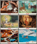 """Movie Posters:Animation, Bambi (Buena Vista, R-1980s). Lobby Cards (6) (11"""" X 14""""). Animation.. ... (Total: 6 Items)"""