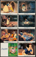 "Movie Posters:Animation, Snow White and the Seven Dwarfs (Buena Vista, R-1987). Lobby Cards(7) (11"" X 14""). Animation.. ... (Total: 7 Items)"