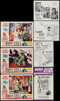 "Movie Posters:Sexploitation, Fanny Hill (Famous Players Corp., 1965). Lobby Cards (3) (11"" X14""), Photos (8) (8"" X 10""), Magazine (182 Pages, 8.5"" X 11""...(Total: 18 Items)"