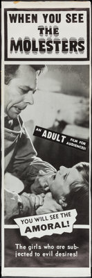 "The Molesters (Aristocrat Films, 1964). Door Panel Set of 4 (18"" X 60"" & 19"" X 58""). Exploit..."