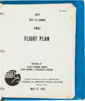 Explorers:Space Exploration, Apollo-Soyuz Test Project Final Flight Plan. ...