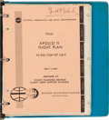 Explorers:Space Exploration, Apollo 11 Final Flight Plan Used During the Mission at Rockwell.... (Total: 2 Items)