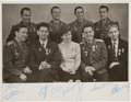 Autographs:Celebrities, Soviet Cosmonauts: Photo Signed by Eight of the First Nine to Fly into Space. ...