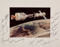 Autographs:Celebrities, Apollo-Soyuz Test Project Flight and Backup Crews-Signed Color Photo Directly from the Personal Collection of Mission Backup D...