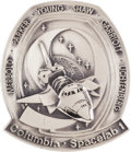 Explorers:Space Exploration, Space Shuttle Columbia - Spacelab 1 (STS-9) Flown Silver Robbins Medallion Directly from the Personal Collection o...