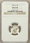 Mercury Dimes: , 1944-D 10C MS67 Full Bands NGC. NGC Census: (1241/20). PCGSPopulation (1177/79). Mintage: 62,224,000. Numismedia Wsl. Pric...