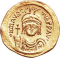 Ancients:Byzantine, Ancients: Maurice Tiberius (AD 580-602). AV solidus (20.5mm, 4.--gm, 6h). ...
