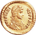 Ancients:Roman Imperial, Ancients: EAST ROMAN EMPIRE. Arcadius (AD 383-408). AV solidus(21mm, 4.37 gm, 11h). ...