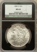 1885-O $1 MS63 NGC. 25th Anniversary Holder. NGC Census: (54583/111067). PCGS Population (58358/83528). Mintage: 9,185,0...