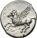 Ancients:Greek, Ancients: Locris Epizephyroi. Ca. 317-310 BC. AR stater (23mm, 8.55gm, 3h)....