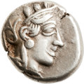 Ancients:Greek, Ancients: Athens. Ca. 454-414 BC. AR drachm (16mm, 4.24 gm,9h). ...