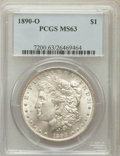 Morgan Dollars: , 1890-O $1 MS63 PCGS. PCGS Population (3971/3796). NGC Census:(3331/2926). Mintage: 10,701,000. Numismedia Wsl. Price for p...