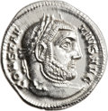 Ancients:Roman Imperial, Ancients: Constantius I (AD 305-306). AR argenteus (20mm, 3.20 gm,12h). ...