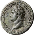 Ancients:Roman Imperial, Ancients: Nero (AD 54-68). Orichalcum sestertius (36mm, 24.21 gm, 1h). ...