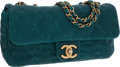 Luxury Accessories:Bags, Chanel Turquoise Caviar Leather Single Flap Bag with BronzeHardware. ...