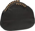 Luxury Accessories:Bags, Judith Leiber Black Lizard Evening Bag with Gold Frame Closure. ...