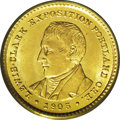 Commemorative Gold: , 1905 G$1 Lewis and Clark MS64 PCGS. Bright lemon-gold patina framesthe slightly deeper honey-gold portraits. A crisply str...