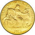 Commemorative Gold: , 1915-S $2 1/2 Panama-Pacific Quarter Eagle MS65 PCGS. A smallpinscratch on Liberty's thighs is basically visible only as a...