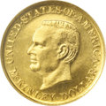 Commemorative Gold: , 1916 G$1 McKinley MS65 NGC. Lustrous and well struck with lovely,deep olive-gold coloration and the absence of any surface...