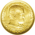 Commemorative Gold: , 1922 G$1 Grant With Star MS66 NGC. This lovely example offersluscious golden-orange surfaces with no mentionable flaws. A ...