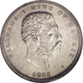 Coins of Hawaii: , 1883 50C Hawaii Half Dollar MS63 PCGS. Although a large number ofthese coins were struck, the vast majority were recalled ...