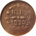 Coins of Hawaii: , 1879 12.5C T. Hobron 12 1/2 Cents Token MS61 Brown NGC. M. 2TE-8.Incorrectly designated as TE-4Aa by NGC. Captain Thomas H...