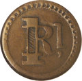 Coins of Hawaii: , 1880 1 Rial Wailuku Plantation Token AU50 NGC. Medcalf TE-3A. A better produced token than those from 1871, this piece demon...
