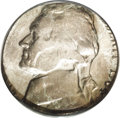Errors: , 1964-D 5C Jefferson Nickel--Struck on a Silver Dime Planchet--MS63 PCGS. Select with the expected lack of definition that r...