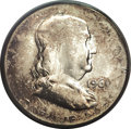 Errors: , 1961 50C Franklin Half--Struck on a 6 gram Split Planchet--MS60PCGS. Compare this piece to the 1952 nickels that are also ...