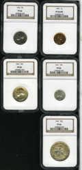 1941 Proof Set PR66 NGC. The set includes: cent PR66 Red, bright copper-orange surfaces with full mint red; nickel PR6...