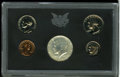 Proof Sets: , Uncertified 1970 10C No S Dime Proof Set. The proof 1970 No S dime grades PR66, and resides in the original black plastic h... (Total: 5 Coins)