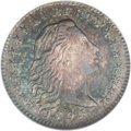 Early Half Dimes: , 1795 H10C AU58 NGC. V-5, LM-8, R.3. L is low and the IB in LIBERTYare distant on this variety. A die crack runs from the Y...