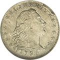 Early Half Dimes: , 1795 H10C MS61 NGC. V-4, LM-10, R.3. This variety is easilyconfirmed by the heavy rim break above TY in LIBERTY, extending...