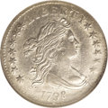 Early Dimes: , 1798/97 10C 16 Stars on Reverse AU58 NGC. JR-1, R.3. A late diestate with the dies clashed, lapped, and clashed again, esp...