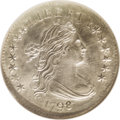 Early Dimes: , 1798/97 10C 16 Stars on Reverse MS66 NGC. JR-1, R.3. The small 8 inthe date is over a much larger 7 underdigit, whose corn...