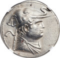 Ancients:Greek, Ancients: Demetrius I (ca. 200-185 BC). AR tetradrachm (33.5mm,17.10 gm, 11h). ...