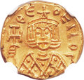 Ancients:Byzantine, Ancients: Theophilus (AD 829-842). AV solidus (16mm, 3.86 gm,6h). ...