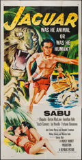 "Movie Posters:Adventure, Jaguar (Republic, 1955). Three Sheet (41"" X 76.5""). Adventure.. ..."