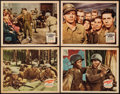 "Movie Posters:War, Guadalcanal Diary & Other Lot (20th Century Fox, 1943). LobbyCards (4) (11"" X 14""). War.. ... (Total: 4 Items)"