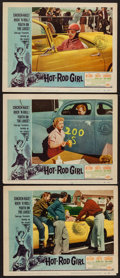 "Movie Posters:Bad Girl, Hot Rod Girl (American International, 1956). Lobby Cards (3) (11"" X14""). Bad Girl.. ... (Total: 3 Items)"