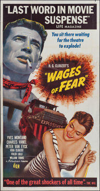 """Wages of Fear (DCA, 1955). Three Sheet (41"""" X 80""""). Thriller"""