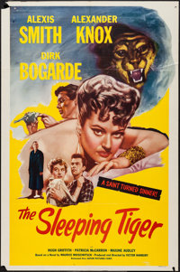 """The Sleeping Tiger (Astor Pictures, 1954). One Sheet (27"""" X 41""""). Drama"""