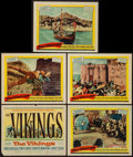 """Movie Posters:Action, The Vikings (United Artists, 1958). Title Lobby Card and LobbyCards (4) (11"""" X 14""""). Action.. ... (Total: 5 Items)"""