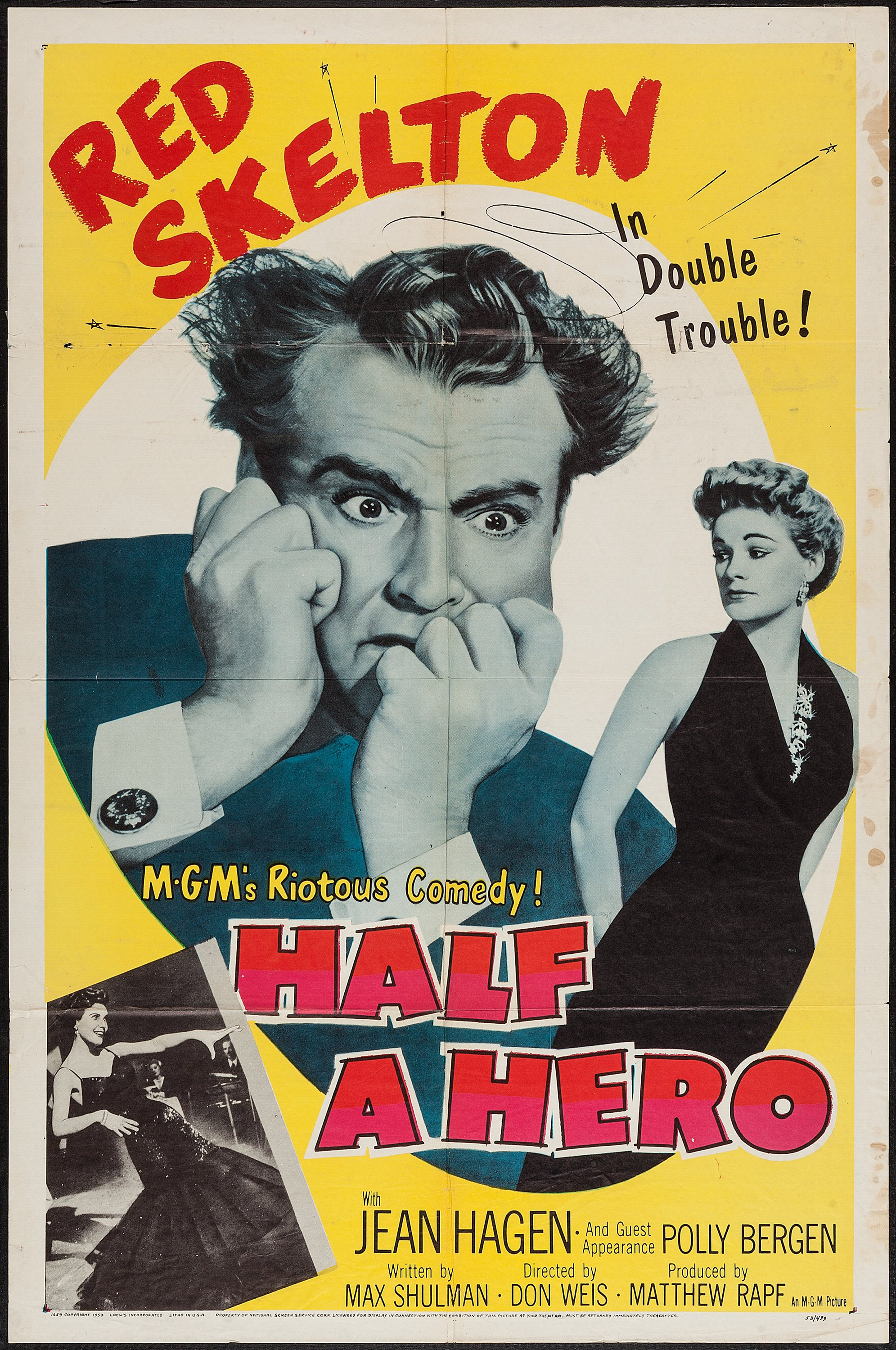 """Half a Hero (MGM, 1953). One Sheet (27"""" X 41""""). Comedy.. ... Movie 